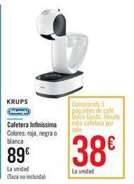 Oferta de Cafetera Infinissima por 89€