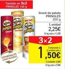 Oferta de Snack de patata Pringles por 2,25€