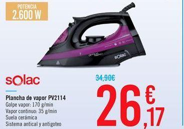 Oferta de Plancha de vapor PV2114 por 26.17€
