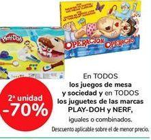 Oferta de En todos los juegos de mesa y sociedad y en todos los juguetes de las marcas PLAY-DOH y NERF iguales o combinados por