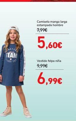 Oferta de Vestido felpa niña por 6,99€