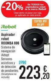 Oferta de Aspirador robot ROOMBA 696 por 223.2€