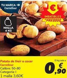 Oferta de Patata de freir o cocer carrefour por 0.9€