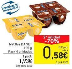 Oferta de Natillas Danet  por 1,93€