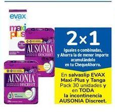 Oferta de En salvaslip EVAX Maxi-Plus y Tanga Pack 30 unidades y en TODA la incontinencia AUSONIA Discreet por