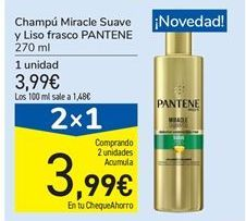 Oferta de Champú Miracle Suave y Liso frasco PANTENE por 3.99€