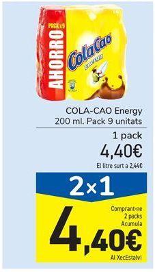 Oferta de COLA-CAO Energy por 4.4€