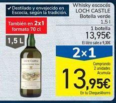 Oferta de Whisky escocés LOCH CASTLE Botella verde por 13,95€