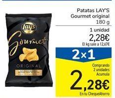 Oferta de Patatas LAY'S Gourmet original por 2.28€