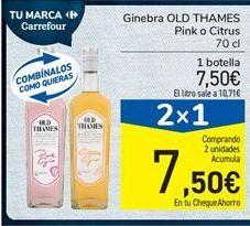 Oferta de Ginebra OLD THAMES Pink o Citrus por 7,5€