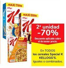 Oferta de Cereales Special K Kellogg's por