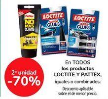 Oferta de Todos los productos LOCTITE Y PATTEX iguales o combinados por