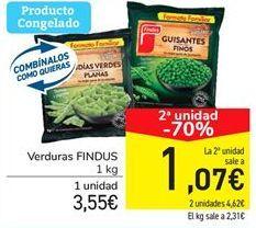 Oferta de Verduras Findus por 3,55€