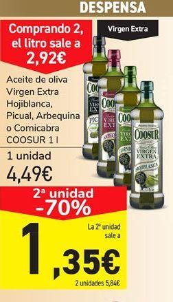 Oferta de Aceite de oliva virgen extra Coosur por 4.49€
