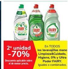 Oferta de Lavavajillas mano Limpieza & Cuidado, Higiene, 0% y Ultra Poder FAIRY por