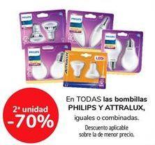 Oferta de Todas las bombillas Philips y Attralux por