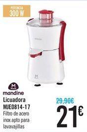 Oferta de Licuadora MJE0814-17 Filtro de acero inox apto para lavavajillas por 21€