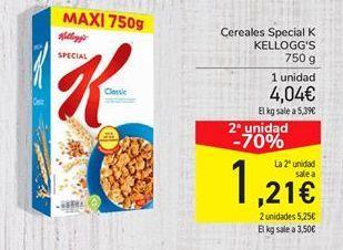 Oferta de Cereales Special K Kellogg's por 1,21€