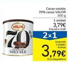 Oferta de Cacao soluble 70% cacao VALOR por 3,79€