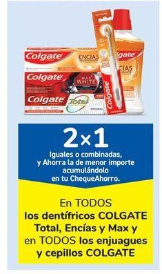 Oferta de En TODOS los dentífricos COLGATE Total, Encías y Max y en TODOS los enjuagues y cepillos COLGATE por