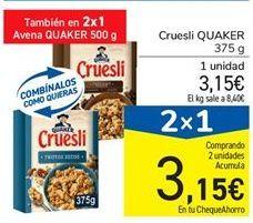 Oferta de Cruesli QUAKER por 3,15€