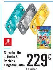 Oferta Consola lite + Mario & Rabbids Kingdom Battle Carrefour