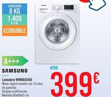 Oferta de Lavadora WW80J5455 por 399€