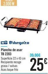 Oferta de Plancha de asar TB 2203 por 25€