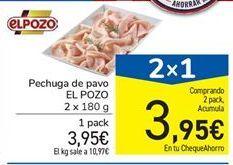 Oferta de Pechuga de pavo El Pozo por 3.95€