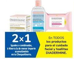 Oferta de En TODOS los productos para el cuidado facial y toallitas DIADERMINE por