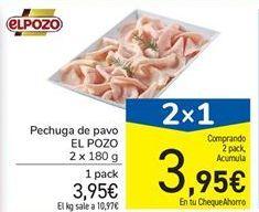 Oferta de Pechuga de pavo El Pozo por 3,95€