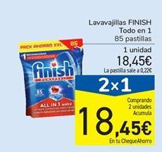 Oferta de Lavavajillas FINISH Todo en 1 por 18,45€