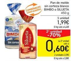 Oferta de Pan de molde sin corteza blando Bimbo por 1,99€
