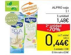 Oferta de Alpro soja por 1,48€