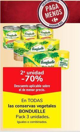 Oferta de Conservas vegetales Bonduelle por