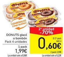 Oferta de DONUTS glacé o comcón por 1.99€