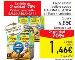 Oferta de Caldo casero pollo o cocido Gallina Blanca por 4.85€