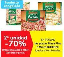 Oferta de Pizzas masa fina o micro Buitoni por