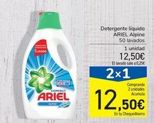 Oferta de Detergente líquido ARIEL Alpine por 12,5€