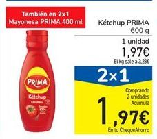 Oferta de Ketchup Prima por 1.97€