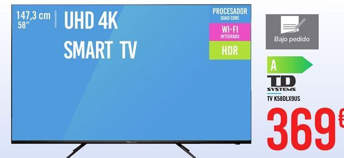Oferta TV K58DLX9US TD SYSTEMS Carrefour