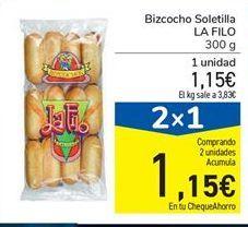 Oferta de Bizcocho Soletilla LA FILO 300 g por 1.15€
