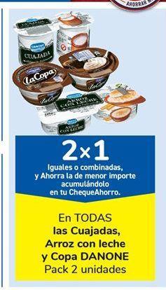 Oferta de En TODAS las Cuajadas, Arroz con leche y Copa DANONE por