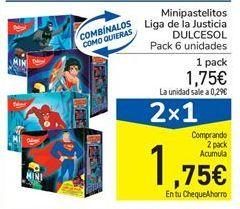 Oferta de Minipastelitos Liga de la Justicia DULCESOL por 1.75€