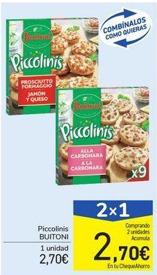 Oferta de Piccolinis Buitoni por 2.7€
