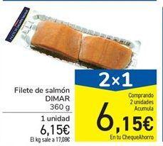 Oferta de Filete de salmón DIMAR 360 g por 6.15€
