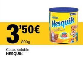 Oferta de Cacao soluble Nesquik por 3,5€