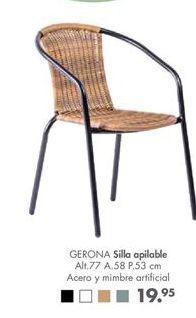 Oferta de Silla apilable por 19,95€