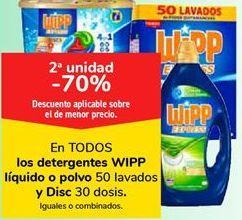 Oferta de En TODOS los detergentes WIPP líquido o polvo y Disc por