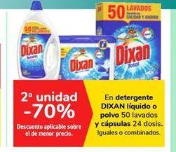 Oferta de En detergente DIXAN líquido o polvo y cápsulas  por